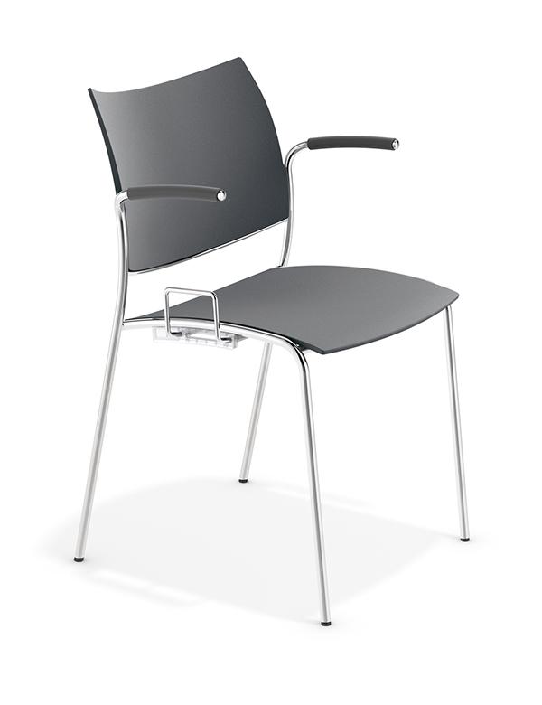 casala cobra chair with armrests hymnbook holder