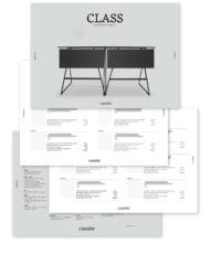 casala class table datasheet