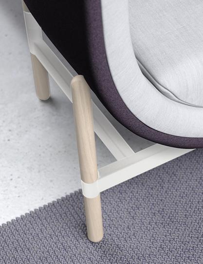 casala palau capsule armchair 1-seater white frame