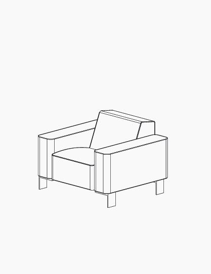 casala palau finch armchair lineart