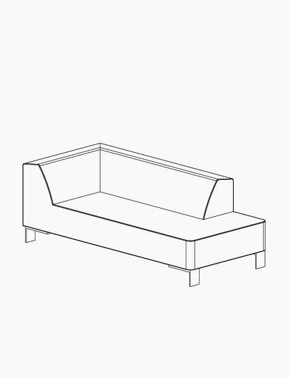 casala palau finch chaise longue lineart
