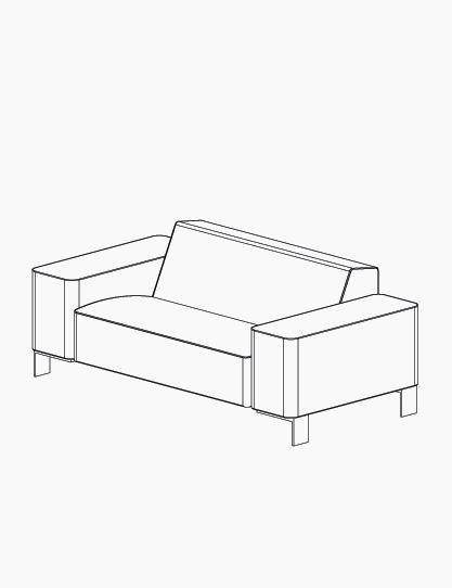 casala palau finch sofa lineart