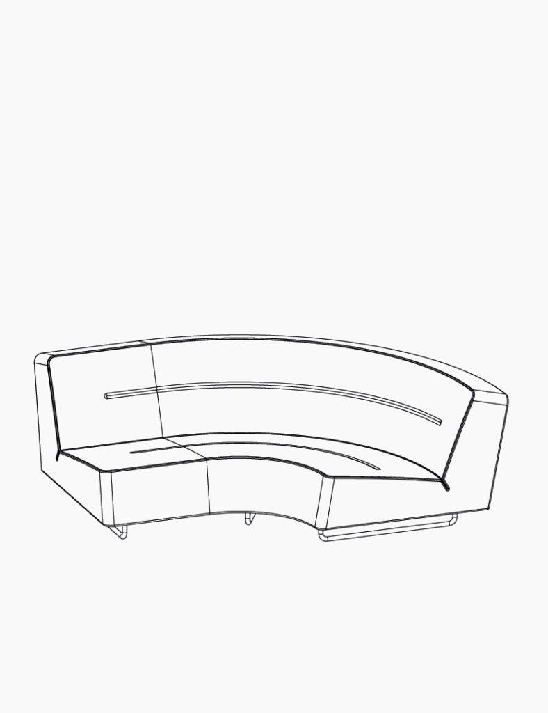 casala palau wave sofa curve lineart