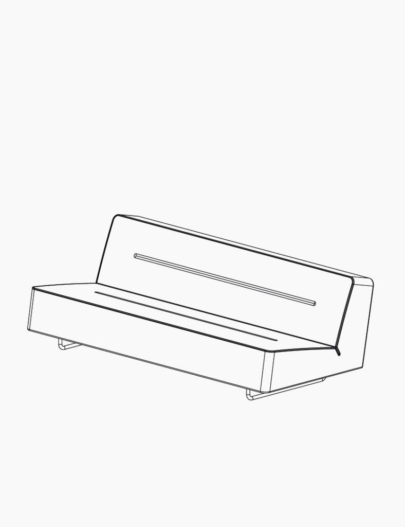 casala palau wave sofa lineart