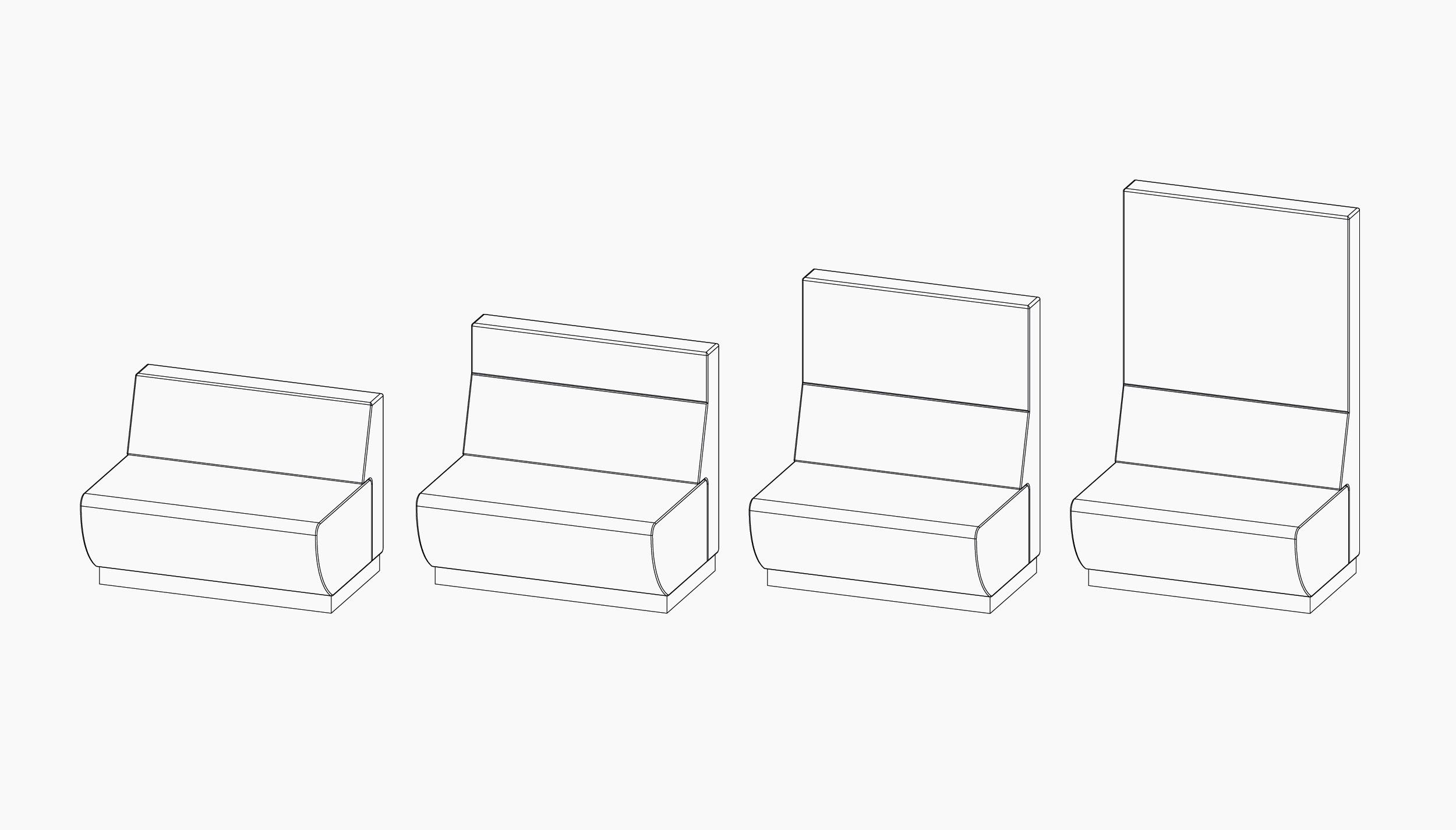 casala palau trainbench sofa lineart