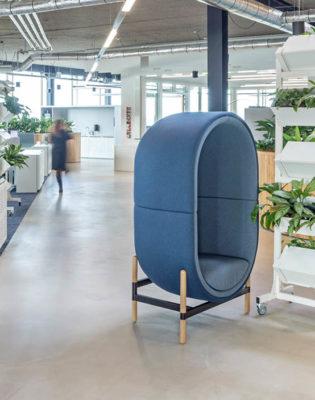 casala palau capsule 1-seater heembouw kantoren